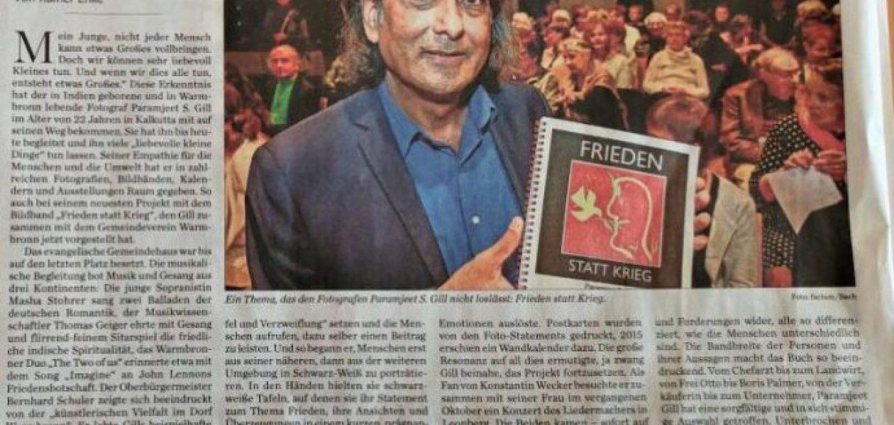 """Param S. Gill stellt sein neues Buch """"Frieden statt Krieg"""" vor"""